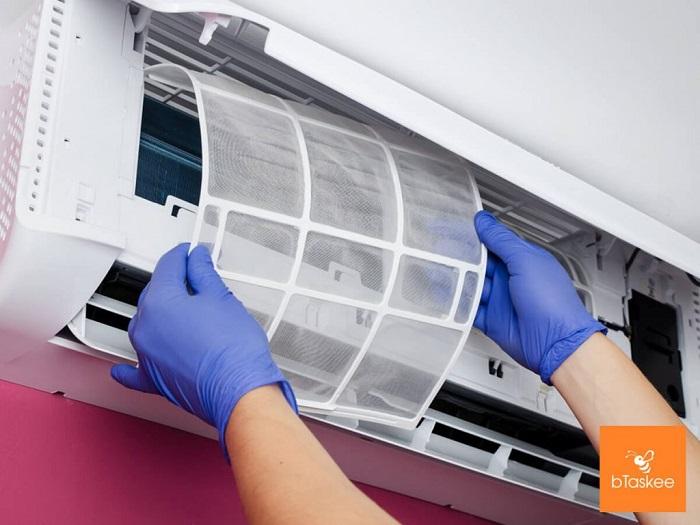 Dịch vụ vệ sinh máy lạnh Điện lạnh bTaskee